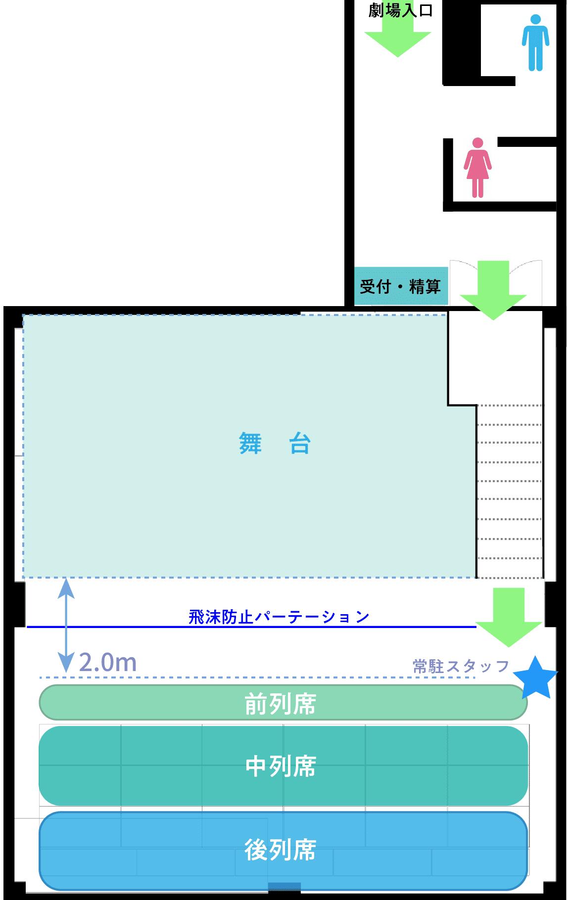 客席案内図