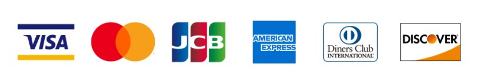 VISA Master JCB AMERICAN EXPRESS Diners Club DISCOVER
